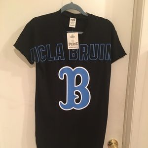 Pink collegiate collection Bruins night shirt